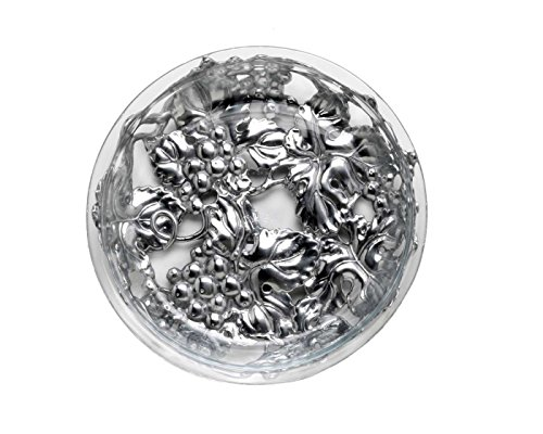 Arthur Court Grape Glass and Metal Pie Plate Trivet, 9-Inch
