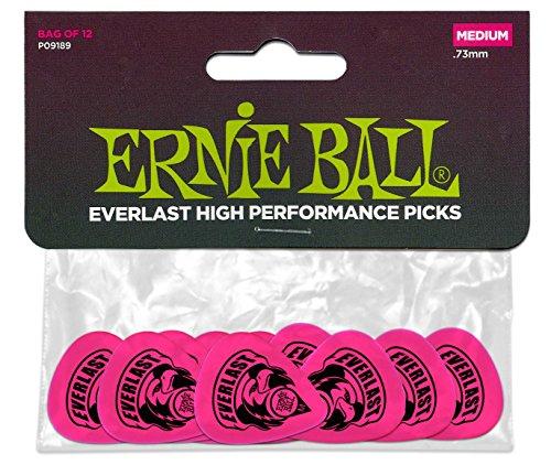 Ernie Ball Everlast Delrin Picks 12 Pack (Medium) (Ernie Ball Picks)