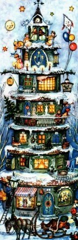 Tall Christmas House German Advent Calendar Christmas Countdown Made in Germany