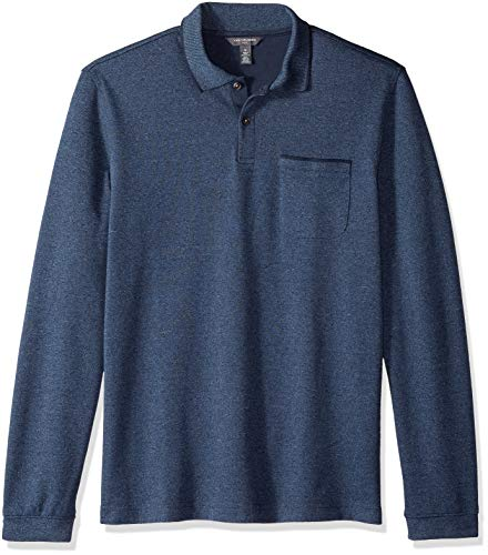 Van Heusen Men's Flex Jaspe Polo Shirt, Classic Blue Barge, X-Large