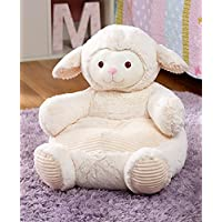 The Lakeside Collection Kids Plush Lamb Chair