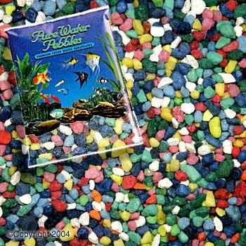 Pure Water Pebbles Aquarium Gravel, 25-Pound, Rainbow