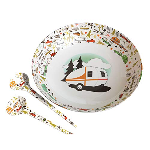 - Camp Casual Multicolor CC-003 Bowl & Servers Set