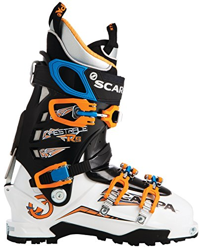 (Scarpa Maestrale RS Ski Boot - Men's White/Orange/Blue 26)