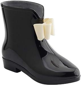 Sweet Womens Wedge Multi Colors Ladies Waterproof Rain Mid Boot Shoes Jelly 99