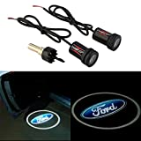 ford edge logo - CHAMPLED® For FORD Laser Projector Logo Illuminated Emblem Under Door Step courtesy Light Lighting symbol sign badge LED Glow Car Auto Performance Tuning Accessory