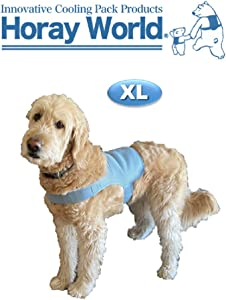 HORAY WORLD Cooling Vest for Dogs, Cooling Gear with Innovative Ice Packs for Optimum Temperature & Longer Cooling Time, Protect Against Heat-Stroke, Applicable to All Breeds of Canines