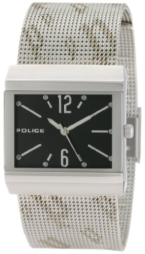 Police Women's PL-10813BS/02MA Virtue Black Dial Stainless-Steel Mesh Bracelet Watch
