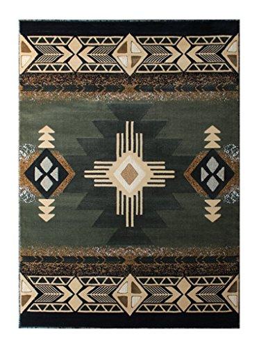 south west native american area rug 8 ft x 10 ft sage green design c318 kitchen. Black Bedroom Furniture Sets. Home Design Ideas