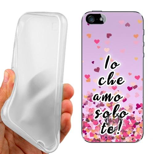 CUSTODIA COVER CASE CASEONE AMO SOLO TE PER IPHONE 5 5G 5S