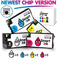 Smart Ink Remanufactured Ink Cartridge Replacement for HP 952XL 952 XL High Yield New Chip (Black,C,M,Y, 4 Pack Combo) for OfficeJet Pro 8715 8725 8720 8740 8710 8210 8702 8216 7720 7740 8730 8720