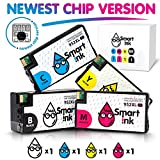 Smart Ink Re-manufactured Ink Cartridge Replacement for HP 952 XL (BK/C/M/Y 4 Pack Combo)to use with OfficeJet 8702 OfficeJet Pro 7720 7740 8210 8216 8710 8715 8720 8725 8727 8728 8730 8732M 8740 8745