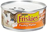 Friskies Cat Food Classic Pate, Poultry Platter, 5.5-Ounce Cans (Pack of 24), My Pet Supplies