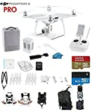 #9: DJI Phantom 4 PRO Quadcopter Drone with 1-inch 20MP 4K Camera KIT + SanDisk Extreme 32GB Micro SDXC Card + Card Reader 3.0 + Snap on Prop Guards + Carry Strap System + Koozam Waterproof Backpack