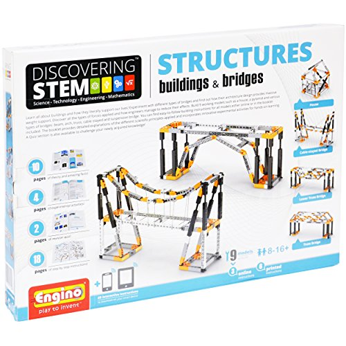 stem toys for 4 year old Engino Discovering STEM Structures Constructions & Bridges Construction Kit