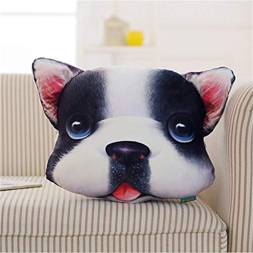 CYYCY Simulación Almohada cojín Creativo 3DPP algodón Relleno Divertido decoraciónAlmohada de expresión Animal 3D Bulldog francés 40 * 40cm