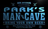 qd1461-b PARK's Man Cave Soccer Football Bar Neon Beer Sign