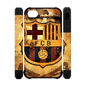 Active FC Barcelona Apple Iphone 4S/4 Case Cover Dual Protective Polymer Cases Futbol Club Barce Pirate flag Skull