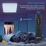 Oeegoo RGB Flush Mount LED Ceiling Light Fixture