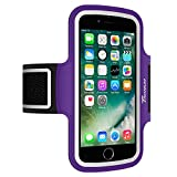 Trianium Armband For iPhone 8 7 6 6S Plus x, LG G6 G5, LG V20, Galaxy s8 s7 s6 Edge, Note 8 5, Pixel 2 XL (Fit Otterbox Defender / Lifeproof case) ArmTrek Pro Sport Running Pouch Key Holder (Purple)