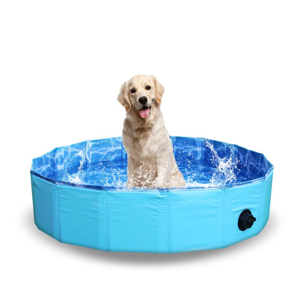 NHILES Portable Large Pet Dog Pool, Collapsible Bathing Tub, Indoor & Outdoor Foldable Leakproof Cat Dog Pet SPA, Large Sized Dog