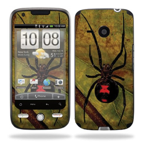 Mightyskins Protective Vinyl Skin Decal Cover for HTC Droid Eris Verizon Cell Phone wrap sticker skins  ¢â ¬â€œ Black Widow