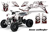 450 yfz atv - Yamaha YFZ 450 2004-2013 ATV All Terrain Vehicle AMR Racing Graphic Kit Decal BONE COLLECTOR WHITE