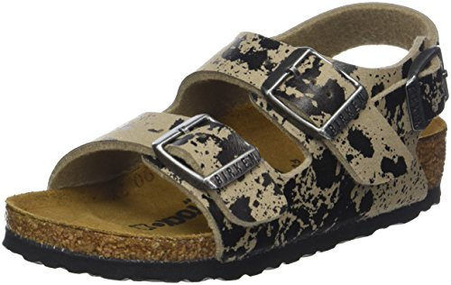 Birkenstock Milano, Boys' Sandals, Beige (Color Sprays Beige), 1 UK (33 EU) ()
