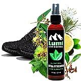 Athletes Foot Home Remedy Natural Shoe Deodorizer Spray and Foot Odor Eliminator - Extra Strength Shoe Spray uses Essential Oils As Organic Deodorant - Peppermint, Tea Tree, Eucalyptus