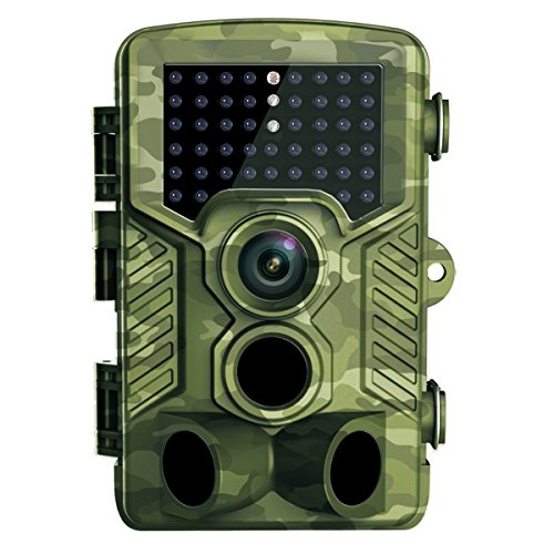 Trail Camera, HEEGOMN 1080P Full HD 0.2s Trigger Speed Hunting Trail Camera with 46pcs IR LEDs 65ft Night Vision, 2.4in LCD Screen for Waterproof Wildlife Camera