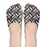 Jordan Flag Weave No Show Socks Boat Socks Non Slip Flat Boat Line For Dancing,Yoga,Daily Life