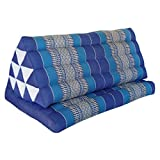 HANDMADE XXL cushion - with attached mattress extension - traditional thai pattern - pure cotton stuffed with kapok, HANDMADE - direct importing from Thailand (82216)