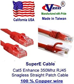 Yellow UL 24Awg Pure Copper SuperEcable -20679-100 Ft UTP Cat5e Ethernet Network Patch Cable