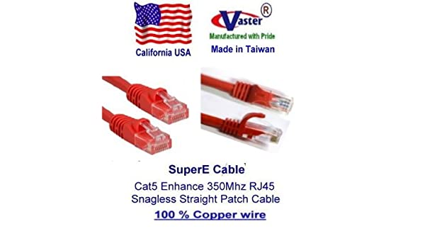 SuperEcable -20673-50 Ft UTP Cat5e Ethernet Network Patch Cable UL 24Awg Pure Copper Green