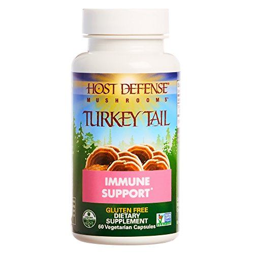 Host Defense - Turkey Tail Mushroom Capsules, Naturally Supports Immune Response, Non-GMO, Vegan, Organic, 60 Count