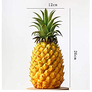 xdobo Realistic Artificial Fruits Fake Pineapple for Display High Simulation Artificial Dummy Fruits Vegetables Studio Photo Prop DIY Decoration Accessories Artificial Food Toys 112