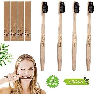 Dientes madera de Bambú, 4 cepillos de Cepillo Dientes Bambu,100 ...