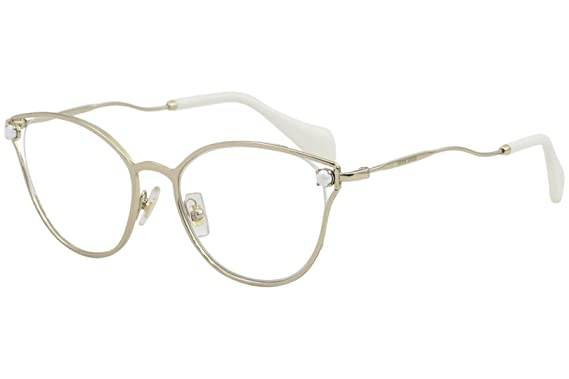 b4eea364960d Image Unavailable. Image not available for. Color: Eyeglasses Miu MU 53 QV  ZVN1O1 PALE GOLD