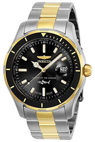 Invicta Men s Pro Diver Quartz Watch with Stainless-Steel Strap, Two Tone, 22 Model 25814