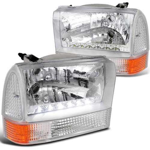 Spec-D Tuning 2LCLH-F25099-RS Headlight (Combo Euro Plus Corner Light Chrome (Chrome Euro Corner Lights)