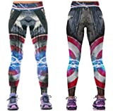 Captain America Suit Up Yoga Pants One Size Fits Most Novelty Leggings