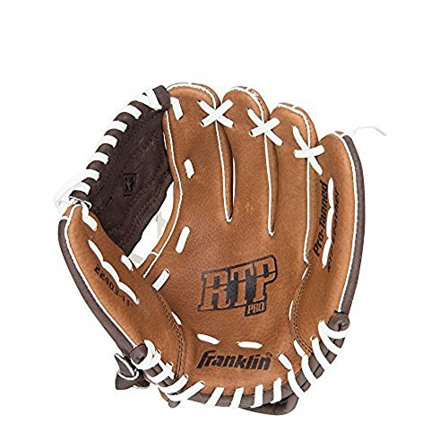 Franklin Sports RTP Pro Series Pigskin Fielding Left Hand Glove, 11.0-Inch, Brown/Chocolate/White -