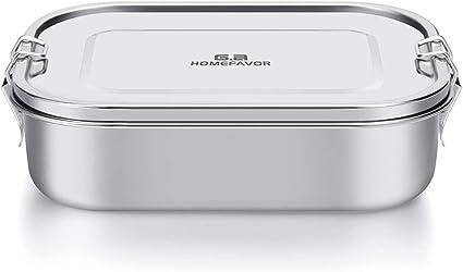 Lunch Box acciaio inossidabile a prova di perdite Contenitore per alimenti in acciaio inossidabile 1400ml spuntino alimenti con controllo delle porzioni Guarnizione silicone lavabile in lavastoviglie