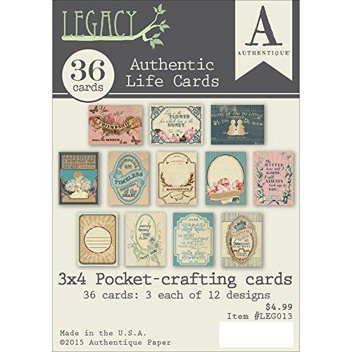 Authentique Paper LEG013 Legacy 3x4 Authentic Life Card, Multi by Authentique Paper