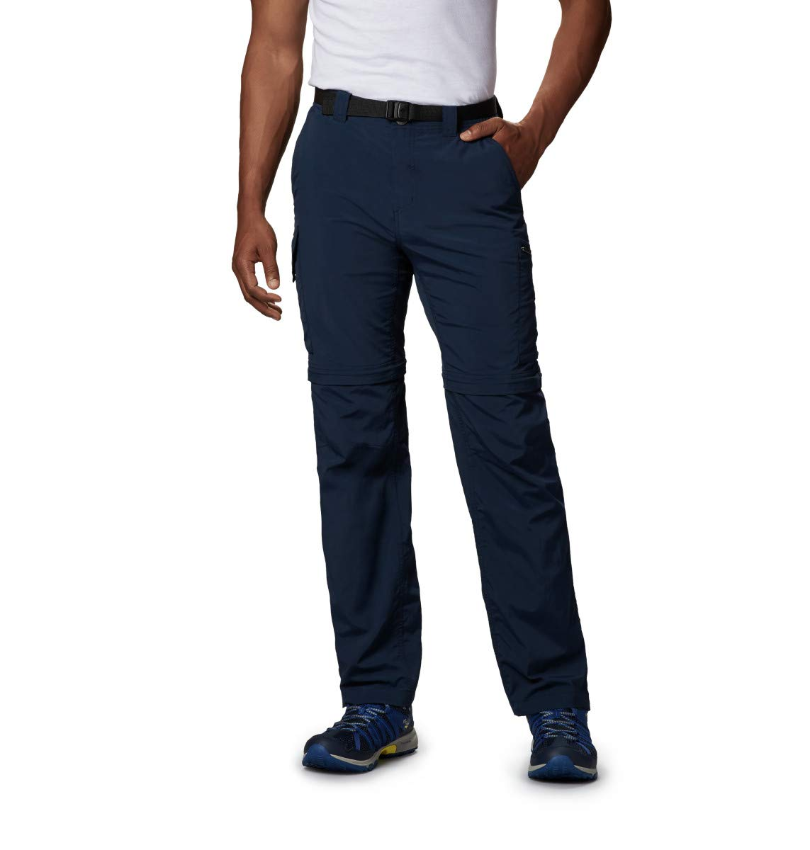 Columbia Men's Silver Ridge Convertible Pant, Breathable, UPF 50 Sun Protection, Collegiate Navy, 44x30 by Columbia