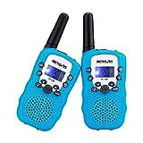 Retevis RT-388 Kids Walkie Talkies 22 Channel VOX 10 Call Tones FRS Walkie Talkie for Kids(SkyBlue, 1 Pair)