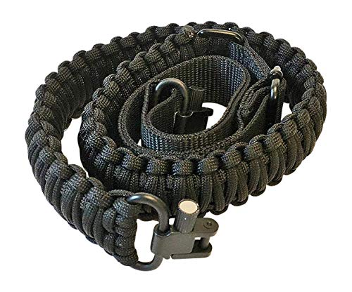 Ten Point Gear Gun Sling Paracord 550 Adjustable w/Swivels (Multiple Color Options) (Black) ()