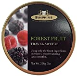 Simpkins Travel Sweets, Forest Fruit Drops, One 200g Tin