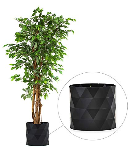 (DELUXE 6 Feet Tall FICUS Silk Leaf Artificial Tree + 8