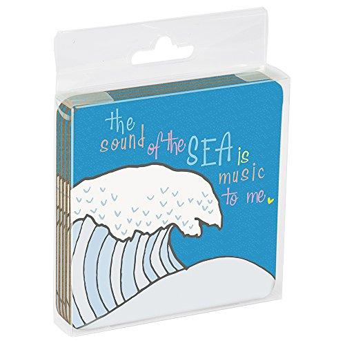 - Tree-Free Greetings ECO Coasters Box Set of 4 Drink Coasters, 3.5 x 3.5 Inch, My Heart Ocean  (EC96252)